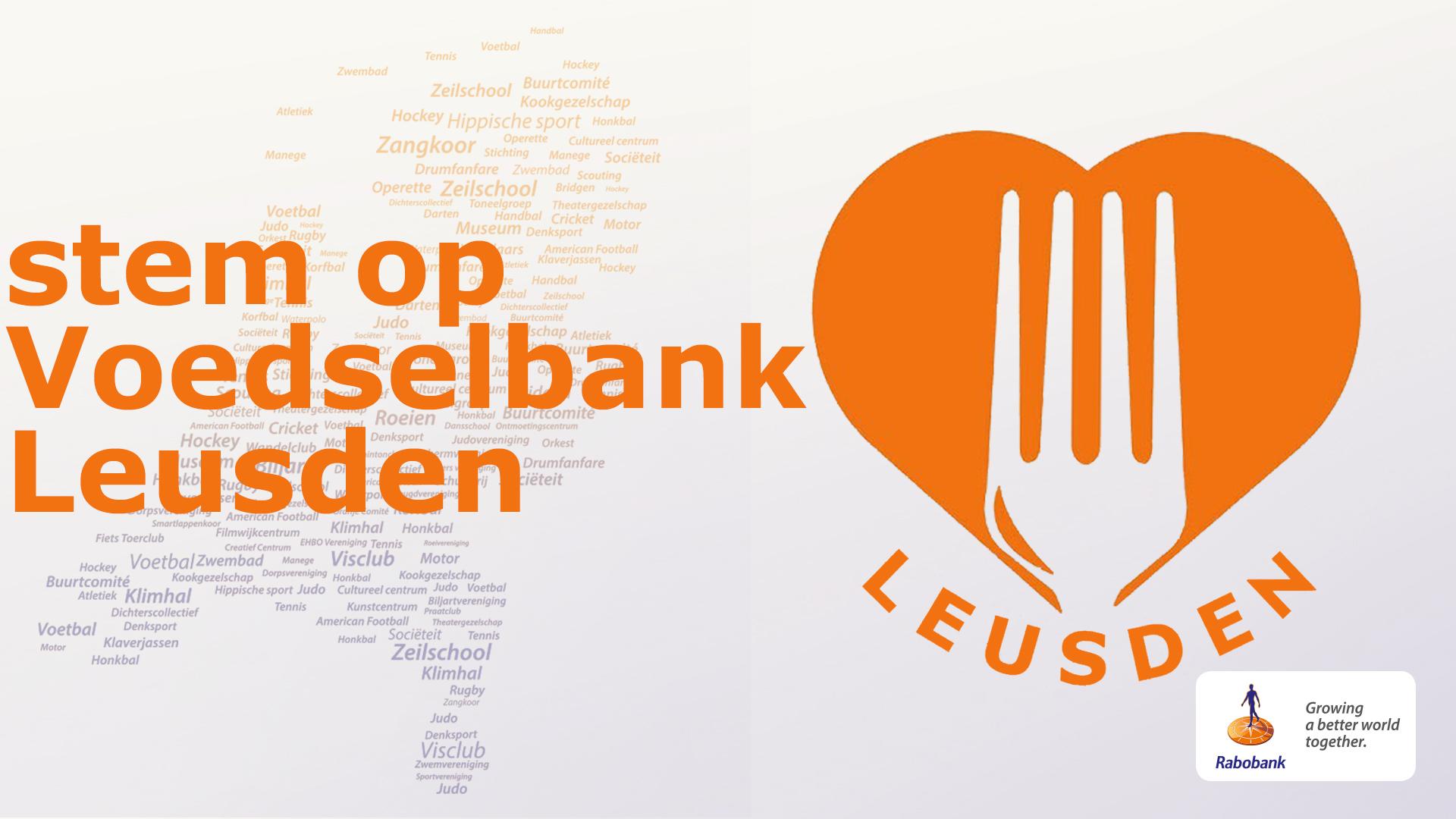 Help ons: Stem op de Voedselbank Leusden.
